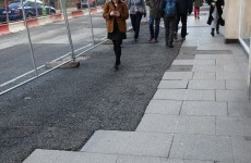 That tarmac at the bottom of Grafton Street should be gone by the end of the summer