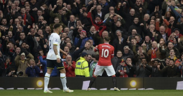 Man Utd are humiliating Spurs but Wayne Rooney's celebration has been the early highlight