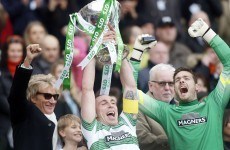 Rod Stewart was a happy man, as Celtic won the League Cup final today