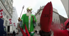 An Irish feminist group stopped the London St Patrick's Day parade