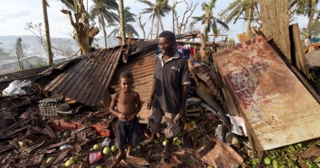 "Thousands homeless as ""monster"" cyclone hits South Pacific islands"