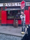 It looks like this guy had a little too much fun in Temple Bar yesterday...