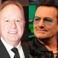 U2 play as friends, family and fans say goodbye to Tony Fenton
