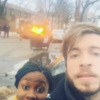 A guy tried to take a selfie in front of a fire and quickly learned his lesson