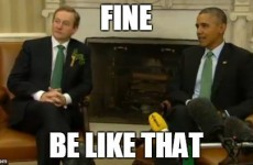 Obama denied Enda Kenny's handshake and it will give you extreme secondhand embarrassment