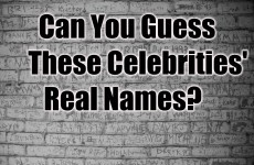 Can You Guess These Celebrities' Real Names?