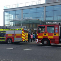 Electrical fire at Mater Hospital this afternoon