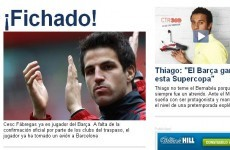 Barcelona complete Fabregas signing - Spanish reports