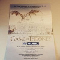 32 things we learned when we were invited to the Game of Thrones world premiere