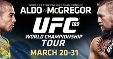 Want to know how to get your hands on free tickets for the McGregor/Aldo event in Dublin?