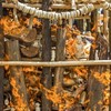 Tonnes of illegal elephant ivory tusks and trinkets burned at the stake