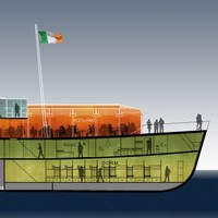 Not happening: This floating hostel/restaurant/micro-brewery won't be heading for Galway after all
