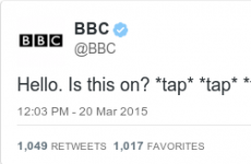 BBC sent its first tweet in six years and people were decidedly underwhelmed by it