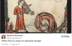The Medieval Reactions Twitter account basically just summed up your weekend