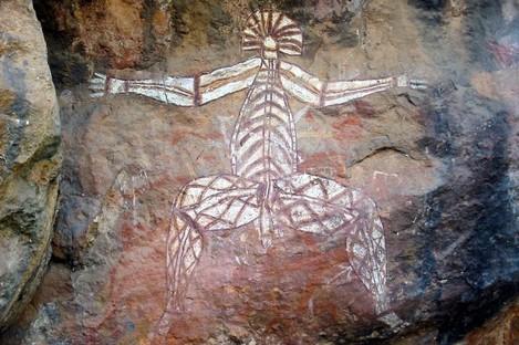 Authentic Australian aboriginal rock art from Kakadu National Park