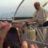 Pope Francis had a pizza delivered right to his Popemobile yesterday