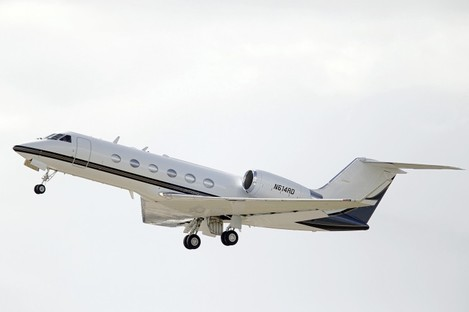 A Gulfstream IV, similar to the Government jet.