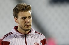 Lord Nicklas Bendtner scored a hat-trick tonight - including this beautiful winner
