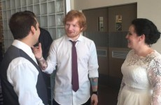Ed Sheeran turned up to sing at this couple's wedding and things got emotional