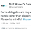 This feminist conference was ridiculed for asking people not to clap