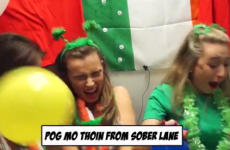 Punters in this Cork bar inhaled helium and read out Irish phrases