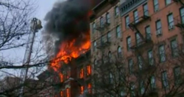 New York fire: Three critically injured after East Village building collapse