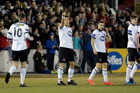 Towell scored in either half at Oriel Park.
