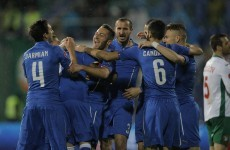 A Brazil-born debutant rescued Italy with a stunning strike tonight