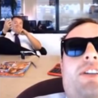 This guy annoys his colleagues all day with the WORST jokes, and it's hilarious