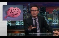 "John Oliver explains why ""April Fools' Day is to comedy as St. Patrick's Day is to Irish culture"""
