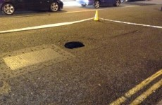 This sinkhole has opened up in the middle of Dublin