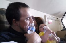 Watch this Dad bond with his baby by adorably emulating her every move