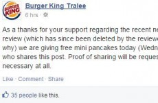 Burger King Tralee offer free pancakes after Facebook gaffe -- but is it a big fat hoax?
