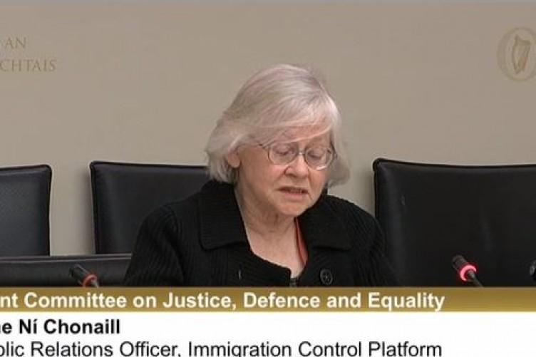 """Áine Ní Chonaill spoke about """"so-called students""""."""