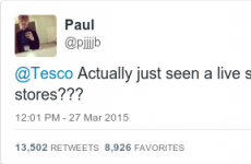 Customer tells Tesco that he saw snake in store, but it's just the set up to an excellent joke