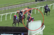 This is one of the most spectacular horse racing falls we've ever seen
