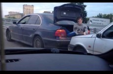 Here's the bonkers way they tow cars in Russia