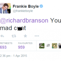 Frankie Boyle just dealt a third degree burn to Richard Branson on Twitter