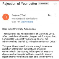 This girl's letter to a university is basically a master class in handling rejection