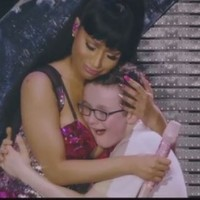 A little Donegal boy nestled into Nicki Minaj's bosom and twerked with her on stage
