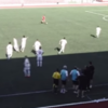Gibraltar's youth team score tournament-winning goal while their opponents celebrate