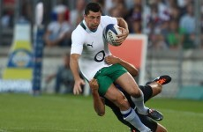 Relief: Kearney to miss France match but expected to face England