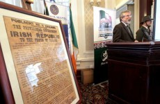 Opposition react to government toning down 1916 message