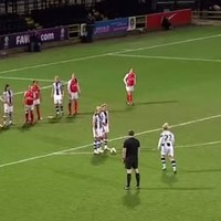 If you like superb free-kick routines, you'll love this absolute gem