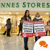 While there's a limit to what employers should provide for workers, I wish Dunnes strikers the very best