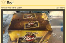Good Friday entrepreneur offers crate of beer for serious money on Done Deal