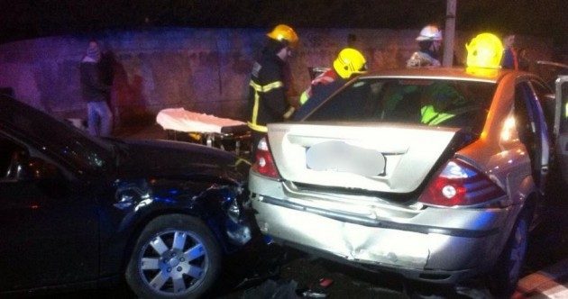 Five hurt after multi-car crash in Dublin overnight
