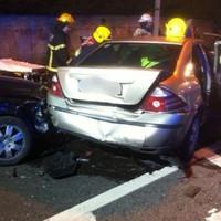 Five hurt after multi-car crash in Dublin overnight
