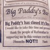 A Donegal pub owner put an ad in the newspaper blaming customers for closure