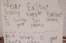 An Irish kid wrote the cutest Easter Bunny letter of all time